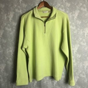 Tommy Bahama pale green half zip pull over sweater